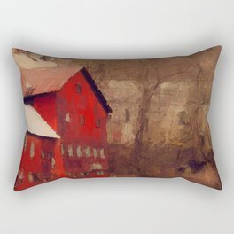 Old Red Mill Rectangular Pillow