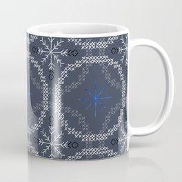 Stitched Bubbles Blue Coffee Mug
