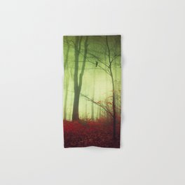 mysteriOns - surreal forest scene Hand & Bath Towel
