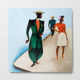 African American Masterpiece 'There She Was (First Time in Harlem) Zoot Suit' by Charles Alston Metal Print