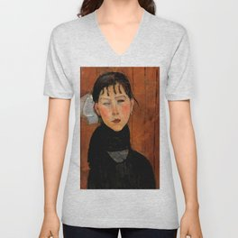 "Amedeo Modigliani ""Marie (Marie, fille du peuple)"" Unisex V-Neck"