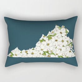 Virginia in Flowers Rectangular Pillow