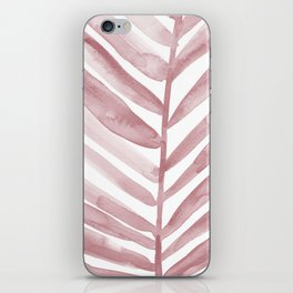 Pink Palm Leaf Crop iPhone Skin