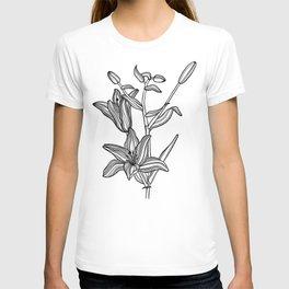 Lily Botanical Illustration T-shirt