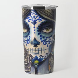 Sombrero Skull Girl Travel Mug