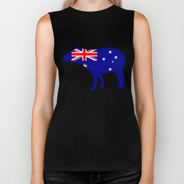Australian Flag - Tapir Biker Tank