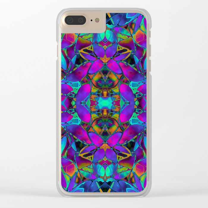 Fractal Floral Abstract G293 Clear iPhone Case