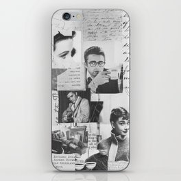 Creative Portrait Collage of 1950's Icons iPhone Skin