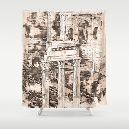 Rome Imperial Fora Shower Curtain