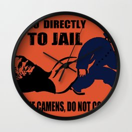 Romney Go Directly To Jail Wall Clock