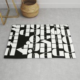 Alphabet Black & White Rug