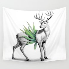 Whitetail Buck Wall Tapestry
