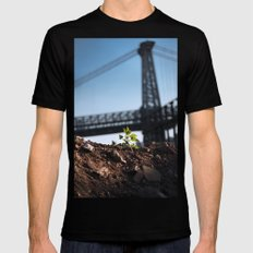 A Tree Grows In Brooklyn SMALL Mens Fitted Tee Black