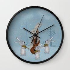 the bunny quartet Wall Clock