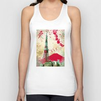 tokyo Tank Tops featuring Tokyo by Kimball Gray