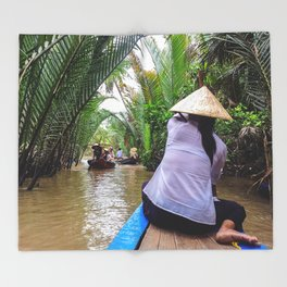 Tributary of the Mekong Delta Throw Blanket