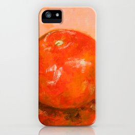 Tomato painting iPhone Case