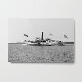 Ticonderoga Steamer on Lake Champlain Metal Print