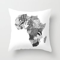 south africa Throw Pillows featuring Africa by Kacenka