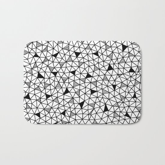 abstract triangle pattern Bath Mat