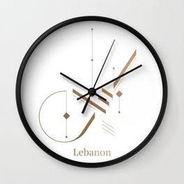 Modern Arabic Calligraphy - Lebanon Wall Clock