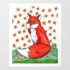 Phone or Fox Art Print