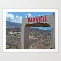 Danger ... Volcano! Art Print