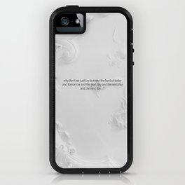 The next day and the next day iPhone Case