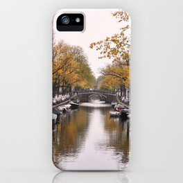 Autumn on Amsterdam's canals iPhone Case