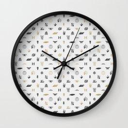 House of the Loyal - Pattern I Wall Clock