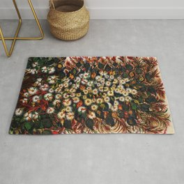 'Les Grandes Marguerites' - Flowers by Seraphine Louis Rug