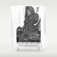 cthulhu Shower Curtains featuring Cthulhu by IG Design