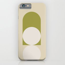 Contemporary Composition 05 - Golden Lime iPhone Case