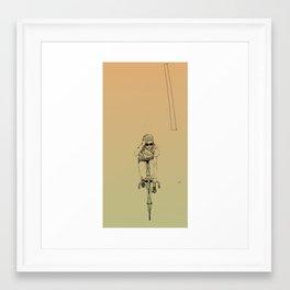 fixed girl Framed Art Print