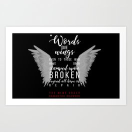 Jaxon Hall, The Mime Order Quote in black, from The Bone Season series by Samantha Shannon Art Print