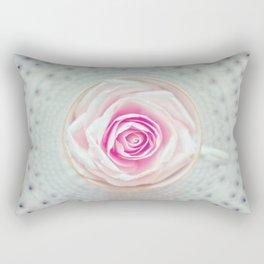 A Cup Of Rose Rectangular Pillow