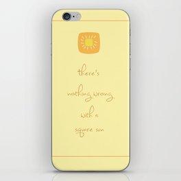 Square Sun iPhone Skin