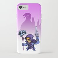 skeletor iPhone & iPod Cases featuring Little Skeletor by Rico Marcano
