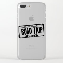 Official Road Trip Shirt License Plate Clear iPhone Case