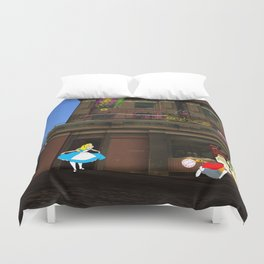Alice in Crackland Duvet Cover