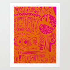 INK#9 Dreaming of India Art Print
