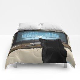 Watching TV Comforters