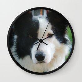Good Dog Blue Wall Clock