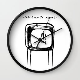 PEOPLE ON TV RECORDS Wall Clock