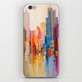 Rainbow city iPhone Skin