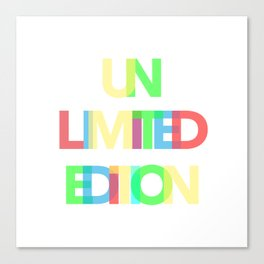 Unlimited Edition Canvas Print