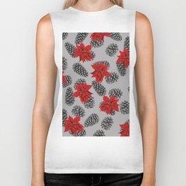 pinecone mistletoe pattern Biker Tank