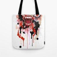 vampire Tote Bags featuring Vampire by Daniel Savoie