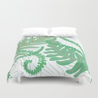 fern Duvet Covers featuring Fern by Allison Holdridge