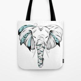 Poetic Elephant Tote Bag